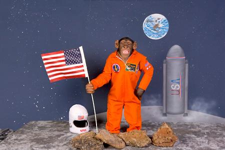 Chimpanzee Astronaut Art - Pics about space