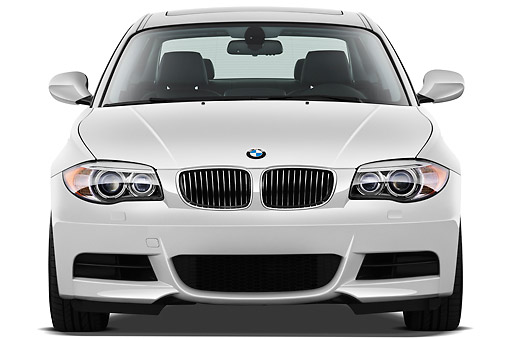AUT 01 IZ0088 01 © Kimball Stock 2013 BMW 1 Series 135 Coupe White Front View On White Seamless