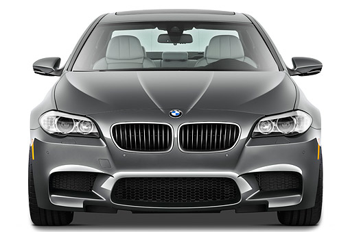 AUT 01 IZ0128 01 © Kimball Stock 2013 BMW M5 Gray Front View On White Seamless