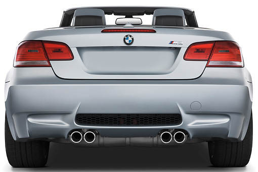 AUT 01 IZ0025 01 © Kimball Stock 2013 BMW M3 Convertible Silver Rear View Studio