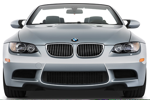 AUT 01 IZ0026 01 © Kimball Stock 2013 BMW M3 Convertible Silver Front View Studio