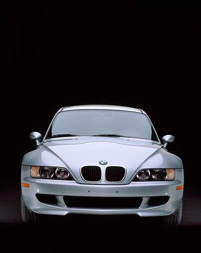 AUT 01 RK0052 01 © Kimball Stock 1999 BMW M Coupe Silver Head On View Studio