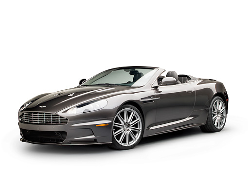 AUT 06 RK0167 01 © Kimball Stock 2012 Aston Martin DBS Gray 3/4 Front View On White Seamless