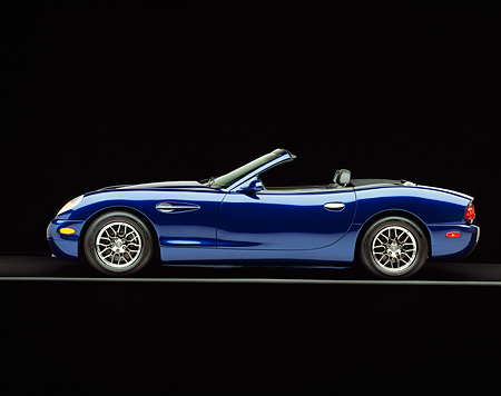 AUT 08 RK0021 04 © Kimball Stock 2000 Panoz Esperante Prototype Blue Profile On Gray Line Studio