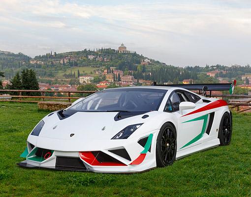 2013 Lamborghini Gallardo Super Trofeo White Red And Green 3 4