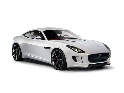 AUT 09 RK1278 01 © Kimball Stock Jaguar C-X16 Concept White 3/4 Front View On White Seamless