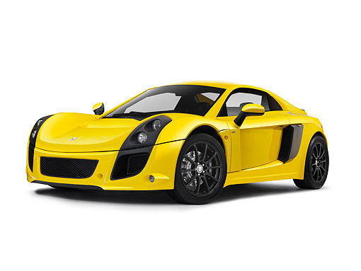 AUT 09 RK1281 01 © Kimball Stock Mastretta MXT Concept Yellow 3/4 Front View On White Seamless