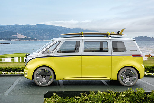 414336e61cd AUT 09 RK1400 01 © Kimball Stock Volkswagen ID Buzz Electric Microbus  Concept Car Profile View