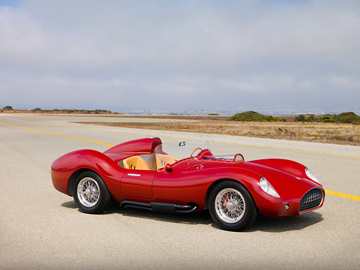 AUT 09 RK1104 01 © Kimball Stock 2007 Creative Workshop Sport Speciale Rossa Barchetta One Of A Kind 3/4 Front View On Pavement