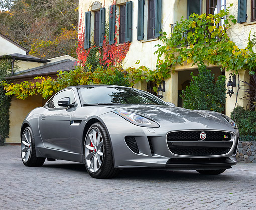 AUT 12 RK0386 01 © Kimball Stock 2015 Jaguar F-Type Silver By Building