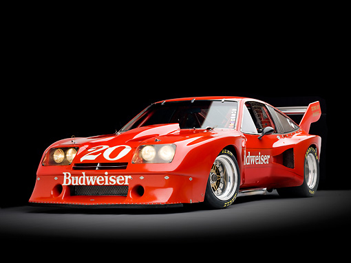 AUT 13 RK0304 01 © Kimball Stock 1976 Devon Monza Race Car Red 3/4 Front View Studio