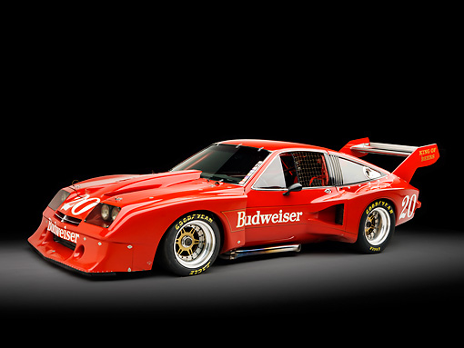 AUT 13 RK0305 01 © Kimball Stock 1976 Devon Monza Race Car Red 3/4 Side View Studio