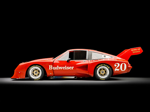 AUT 13 RK0307 01 © Kimball Stock 1976 Devon Monza Race Car Red Profile View Studio