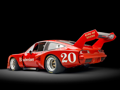 AUT 13 RK0308 01 © Kimball Stock 1976 Devon Monza Race Car Red 3/4 Rear View Studio