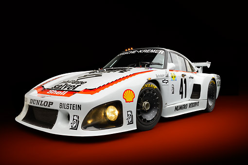 AUT 13 RK0413 01 © Kimball Stock 1979 Porsche 935 K3 Le Mans Winner White 3/4 Front View In Studio