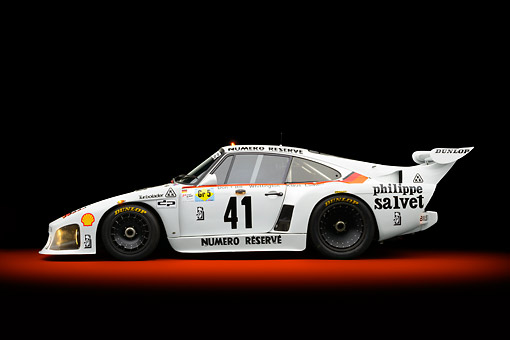 AUT 13 RK0416 01 © Kimball Stock 1979 Porsche 935 K3 Le Mans Winner White Profile View In Studio