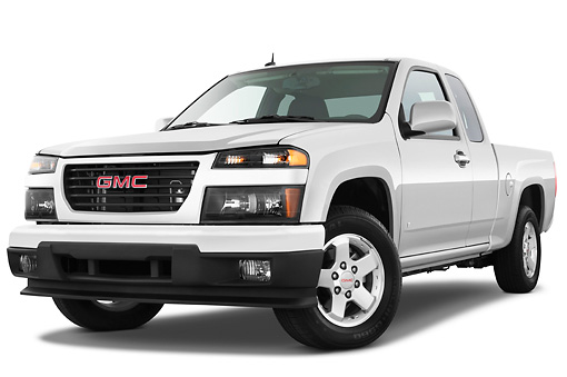 AUT 14 IZ0106 01 © Kimball Stock 2011 GMC Canyon SLE Pickup Truck Silver 3/4 Front View Studio