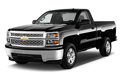 AUT 14 IZ0172 01 © Kimball Stock 2015 Chevrolet Silverado 1500 LT Regular Cab Std Box 2-Door 3/4 Front View In Studio