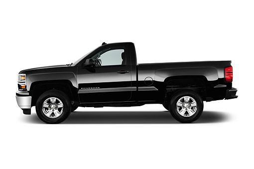 AUT 14 IZ0179 01 © Kimball Stock 2015 Chevrolet Silverado 1500 LT Regular Cab Std Box 2-Door Profile View In Studio