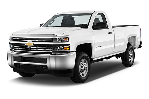 AUT 14 IZ0180 01 © Kimball Stock 2015 Chevrolet Silverado 2500 HD Work Truck Regular Cab LWB 2-Door 3/4 Front View In Studio