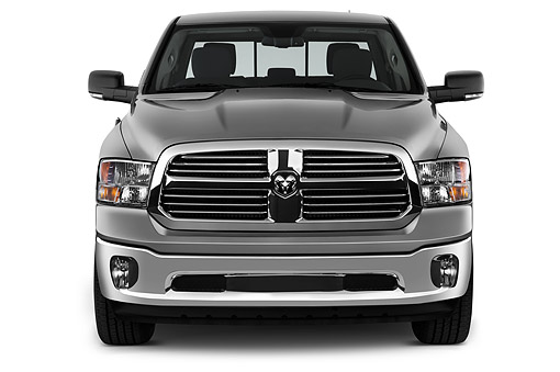 AUT 14 IZ0211 01 © Kimball Stock 2015 Ram 1500 Big Horn Lone Star Crew Cab 4-Door Truck Front View In Studio