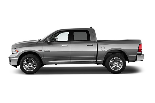 AUT 14 IZ0213 01 © Kimball Stock 2015 Ram 1500 Big Horn Lone Star Crew Cab 4-Door Truck Profile View In Studio
