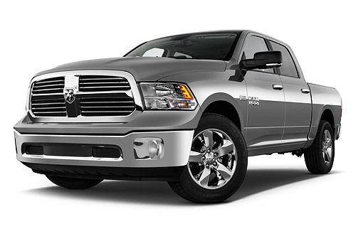 AUT 14 IZ0214 01 © Kimball Stock 2015 Ram 1500 Big Horn Lone Star Crew Cab 4-Door Truck Low 3/4 Front View In Studio