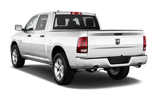 AUT 14 IZ0216 01 © Kimball Stock 2015 Ram 1500 Express Crew Cab 4-Door Truck 3/4 Rear View In Studio