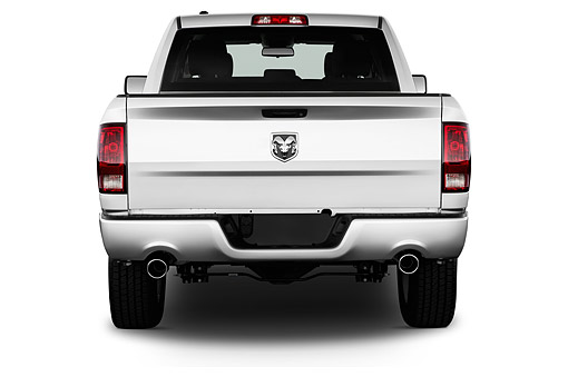 AUT 14 IZ0219 01 © Kimball Stock 2015 Ram 1500 Express Crew Cab 4-Door Truck Rear View In Studio