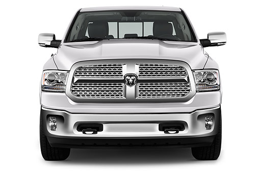AUT 14 IZ0225 01 © Kimball Stock 2015 Ram 1500 Laramie Quad Cab 4-Door Truck Front View In Studio
