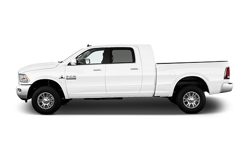 AUT 14 IZ0234 01 © Kimball Stock 2015 Ram 2500 Laramie Mega Cab 4-Door Truck Profile View In Studio