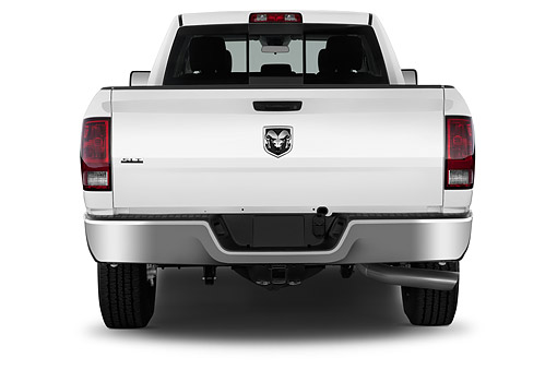 AUT 14 IZ0241 01 © Kimball Stock 2015 Ram 2500 SLT Crew Cab SWB 4-Door Truck Rear View In Studio