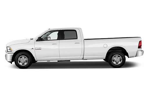 AUT 14 IZ0242 01 © Kimball Stock 2015 Ram 2500 SLT Crew Cab SWB 4-Door Truck Profile View In Studio