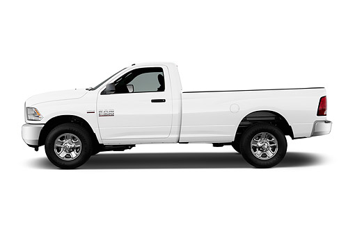 AUT 14 IZ0248 01 © Kimball Stock 2015 Ram 2500 Tradesman Regular Cab SWB 2-Door Truck Profile View In Studio