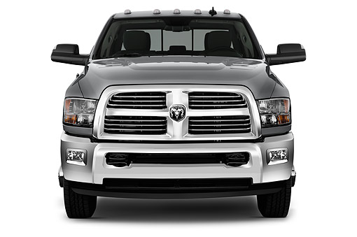 AUT 14 IZ0253 01 © Kimball Stock 2015 Ram 3500 Big Horn Lone Star Crew Cab SWB 4-Door Truck Front View In Studio