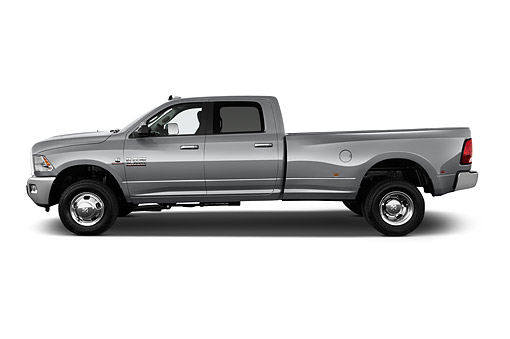 AUT 14 IZ0255 01 © Kimball Stock 2015 Ram 3500 Big Horn Lone Star Crew Cab SWB 4-Door Truck Profile View In Studio