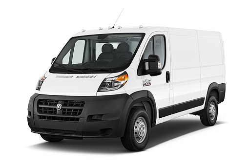 AUT 14 IZ0264 01 © Kimball Stock 2015 Ram Promaster Window Van 2500 159 WB High Roof 4-Door 3/4 Front View In Studio
