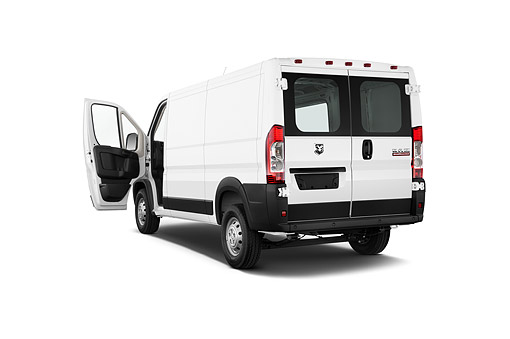 AUT 14 IZ0266 01 © Kimball Stock 2015 Ram Promaster Window Van 2500 159 WB High Roof 4-Door 3/4 Rear View In Studio