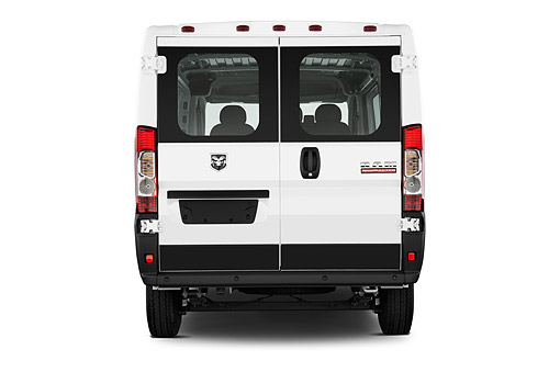 AUT 14 IZ0268 01 © Kimball Stock 2015 Ram Promaster Window Van 2500 159 WB High Roof 4-Door Rear View In Studio