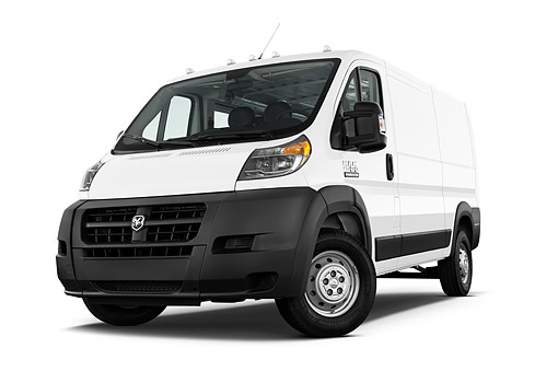 AUT 14 IZ0270 01 © Kimball Stock 2015 Ram Promaster Window Van 2500 159 WB High Roof 4-Door Low 3/4 Front View In Studio