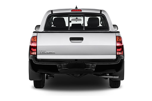 AUT 14 IZ0275 01 © Kimball Stock 2015 Toyota Tacoma Doublecab AT 4-Door Truck Rear View In Studio