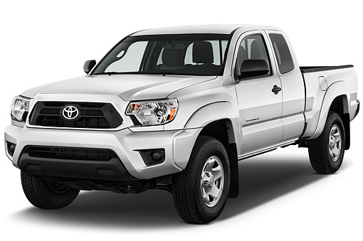 AUT 14 IZ0278 01 © Kimball Stock 2015 Toyota Tacoma Prerunner Access Cab AT 4-Door Truck 3/4 Front View In Studio