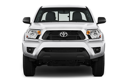 AUT 14 IZ0281 01 © Kimball Stock 2015 Toyota Tacoma Prerunner Access Cab AT 4-Door Truck Front View In Studio