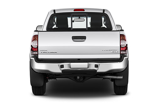AUT 14 IZ0282 01 © Kimball Stock 2015 Toyota Tacoma Prerunner Access Cab AT 4-Door Truck Rear View In Studio