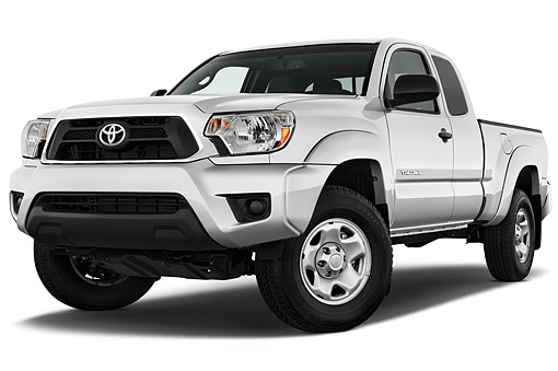 AUT 14 IZ0284 01 © Kimball Stock 2015 Toyota Tacoma Prerunner Access Cab AT 4-Door Truck 3/4 Front View In Studio