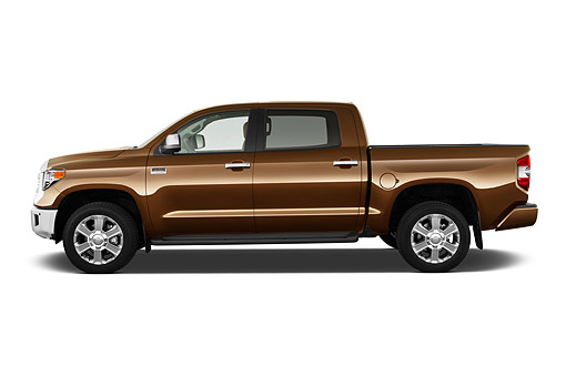 AUT 14 IZ0290 01 © Kimball Stock 2015 Toyota Tundra 5.7 Auto 4WD 1794 Edition Crew Max 4-Door Truck Profile View In Studio