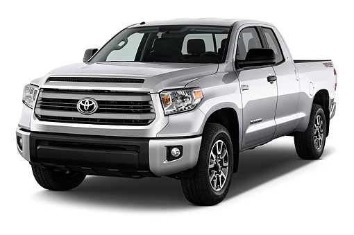 AUT 14 IZ0291 01 © Kimball Stock 2015 Toyota Tundra 5.7 Auto 4WD SR5 Doublecab 3/4 Front View In Studio