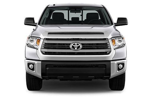 AUT 14 IZ0294 01 © Kimball Stock 2015 Toyota Tundra 5.7 Auto 4WD SR5 Doublecab Front View In Studio