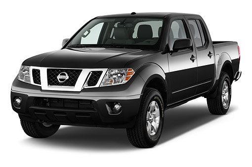 AUT 14 IZ2029 01 © Kimball Stock 2015 Nissan Frontier 4.0 SV Crew Cab 4x4 AT SWB 4-Door Truck 3/4 Front View In Studio