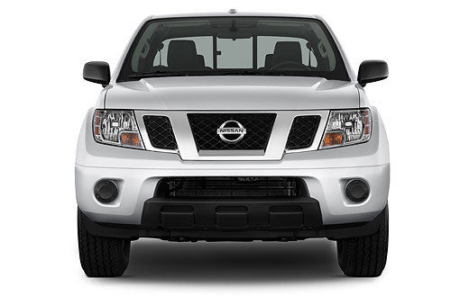 AUT 14 IZ2039 01 © Kimball Stock 2014 Nissan Frontier 4.0 SV King Cab 4x4 AT SWB 2-Door Truck Front View In Studio